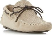 Natural boyde Woven Embossed Driver Shoes