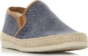 Navy fabien Espadrilles Trim Canvas Shoes