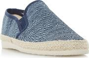 Navy finnick Flecked Canvas Espadrille Shoes