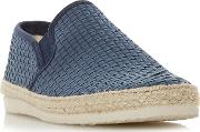 Navy firmino Woven Espadrilles Trim Slip On Shoes