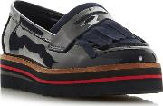 Navy Leather gracella Loafers