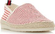 Red flamini Stripe Espadrille Shoes