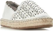 Silver Leather gracelynn Espadrilles