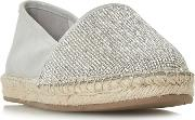 Silver Leather graci Espadrilles