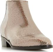 Silver peiro Block Heel Ankle Boots