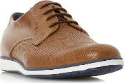 Tan balthazar Wedged Sole Casual Lace Up Shoes