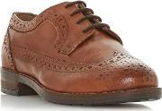 Tan Leather felixe Block Heel Brogues