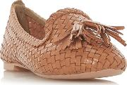 Tan Leather ginnette Loafers