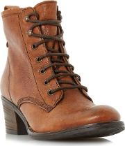 Tan patsie D Warm Lined Ankle Boot