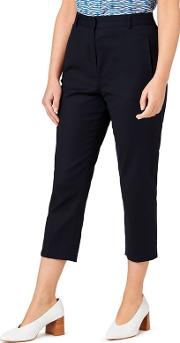 Button Detail Cropped Trouser