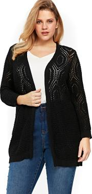 Black Diamond Stitch Cardigan