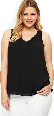 Black Double Layer Cami
