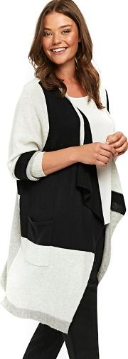 Colourblock Waterfall Cardigan