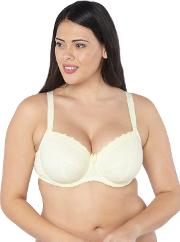 Emily Lemon Cotton Balcony Bra