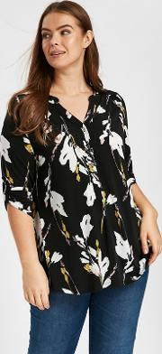 Multicoloured Floral Jersey Shirt