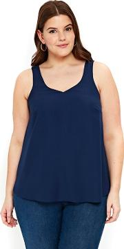 Navy Blue Double Layer Camisole Top