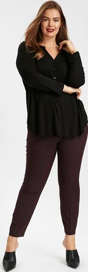 Purple Tapered Trousers