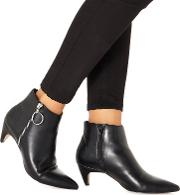 Black 'bolly' Mid Block Heel Ankle Boots