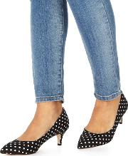 Navy cammy Mid Kitten Heel Pointed Shoes