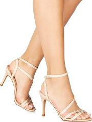 Pale Pink Patent delly High Stiletto Heel Ankle Strap Sandals