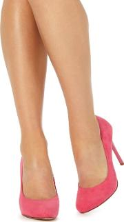 Pink 'candy' High Heel Wide Fit Court Shoesay
