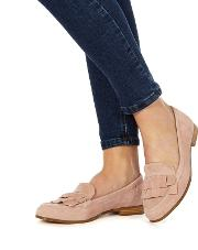 Pink Suede ava Loafers