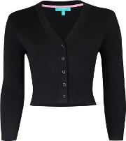 Black mariel V Neck Cardigan