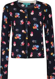 Multicoloured Floral Print Cardigan