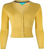 Yellow mariel V Neck Cardigan