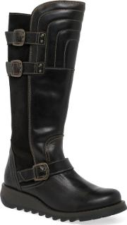 Dark Brown sher Womens Long Boots