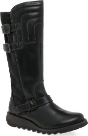 Dark Grey sher Womens Long Boots