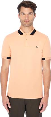 Light Orange Block Tipped Polo Shirt