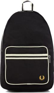 Navy And White Stripe Backpack