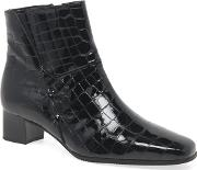 Black Patent 'bassanio' Womens Ankle Boots