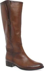 Brown Leather louisa 2 Flat Knee High Boots