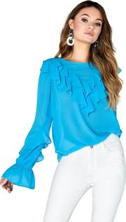 Nicki Frill Front Blouse