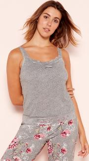 Dd Grey frosted Lace Trim Camisole Vest