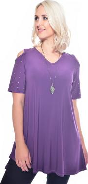 Purple Tunic With Necklace