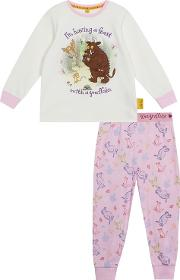 The Gruffalo Girls Pink gruffalo Print Pyjama Set