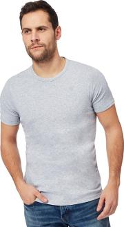 G Star Pack Of Two Grey Crew Neck T Shirts