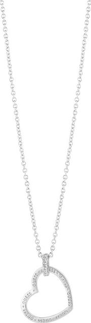 Guess Rhodium Plated Necklace Ubn82059