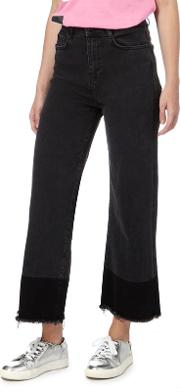 H By Henry Holland Black Wide Leg Cropped Jeans