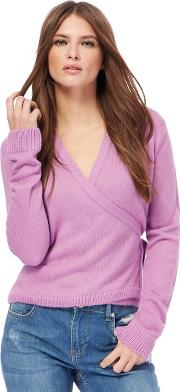 H By Henry Holland Lilac Ballet Style Wrap Cardigan