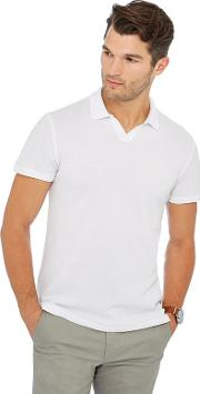 By Patrick Grant Big And Tall White Textured Polo Shirt