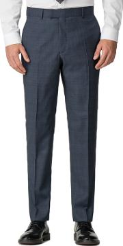 By Patrick Grant Blue Tonal Check Tailored Trousers