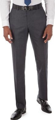 By Patrick Grant Blue With Rust Check Plain Front Tailored Fit Suit Trousers