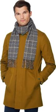 By Patrick Grant Grey Prince Of Wales Check Cashmere Scarf