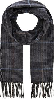 By Patrick Grant Grey prince Of Wales Check Scarf