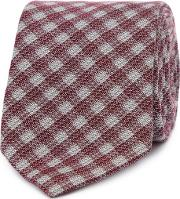 By Patrick Grant Grey prince Of Wales Check Tie
