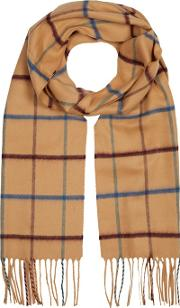By Patrick Grant Grey Window Pane Check Scarf